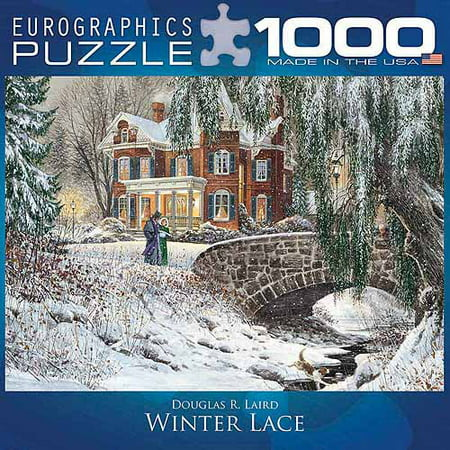 EuroGraphics Winter Lace 1000-Piece Puzzle, Small Box](Winter Puzzles)