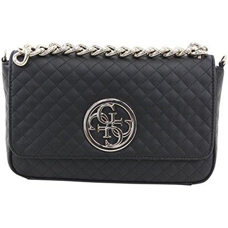 Guess Handbags Top Zip Satchel (GUESS G Lux Quilted Crossbody Flap Hobo Bag Handbag )