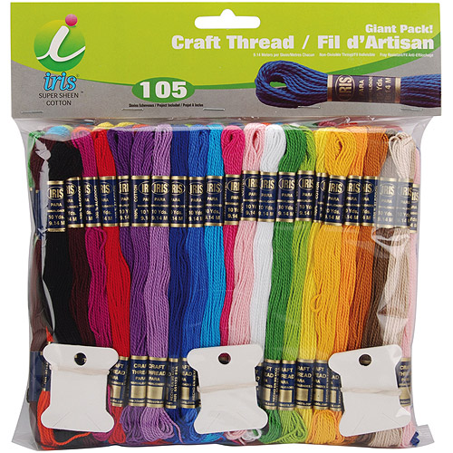 Craft Thread Giant Pack, 9.14m, 105pk, Assorted Colors