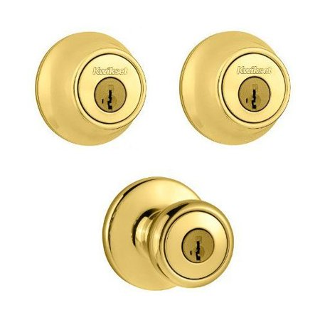 Polished Brass Double Cylinder Deadbolt & Entry Set