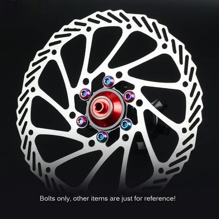 12PCS Disc Brake Rotor Screws M5*10mm Titanium MTB Bike Bicycle Torx T25 Bolts