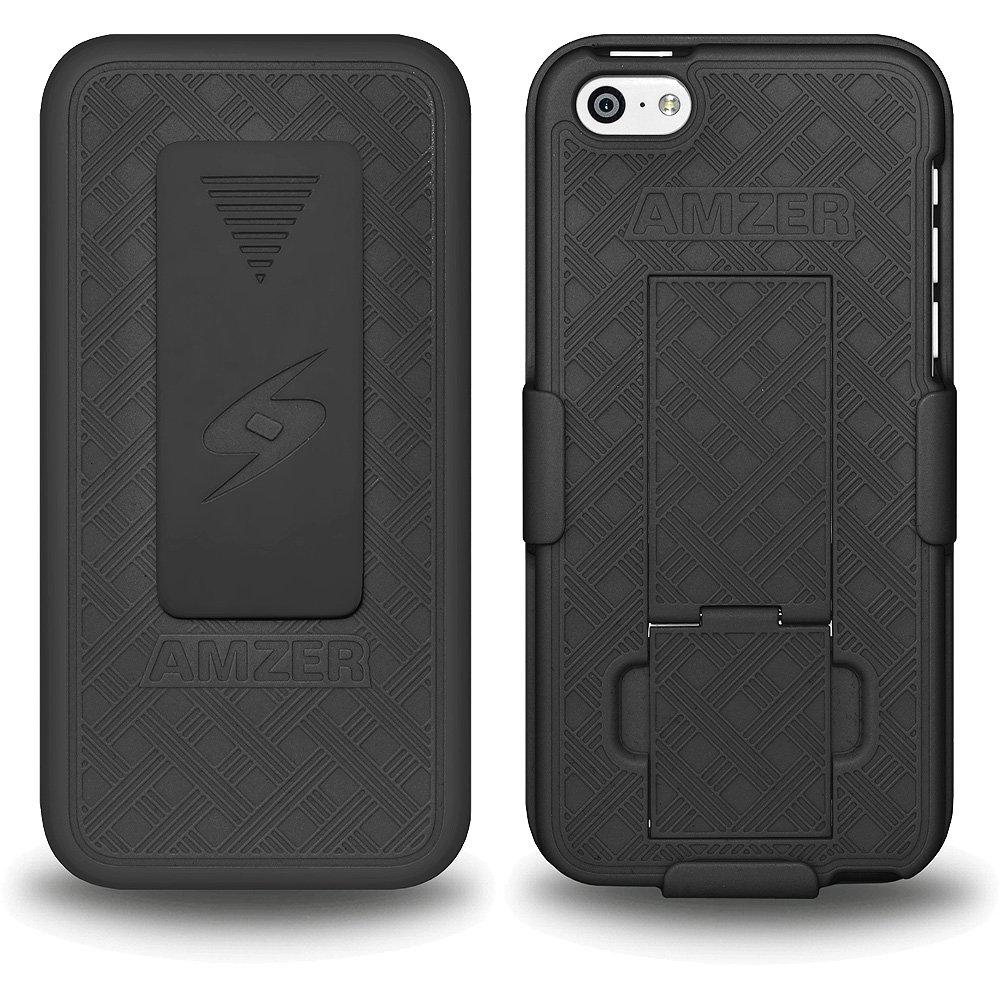 Apple iPhone 5C Case Premium Rubberized Kickstand Shell Case Belt Clip Holster Cover