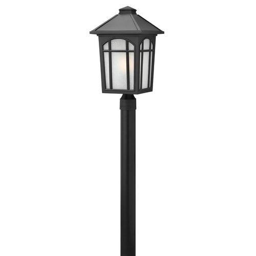 Hinkley Lighting 1989BK-GU24 Cedar Hill 1 Light Outdoor Post Light with GU24 Lamping, Black
