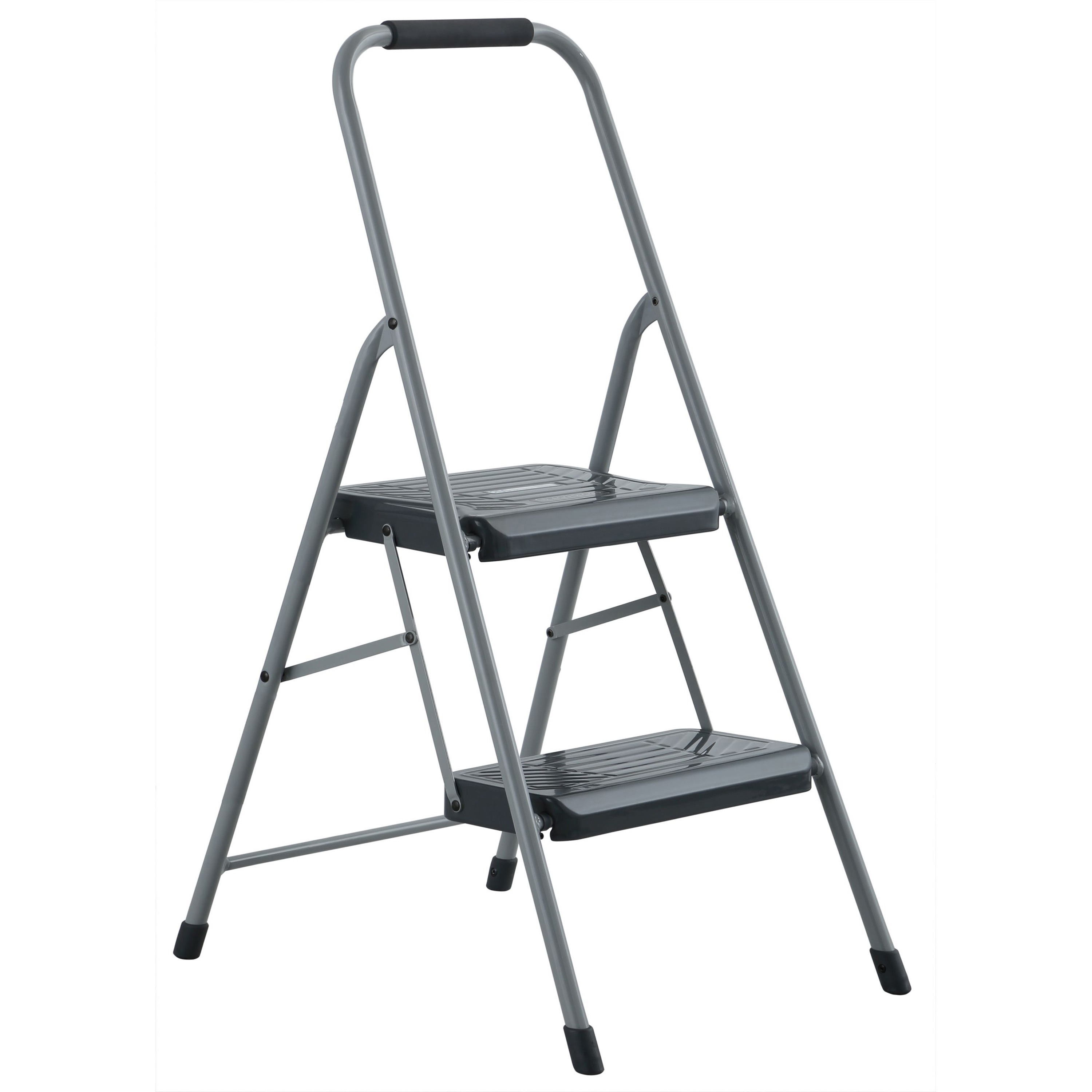 Louisville Black and Decker Steel Step Stool, Two-Step, 200 lb Cap, Gray