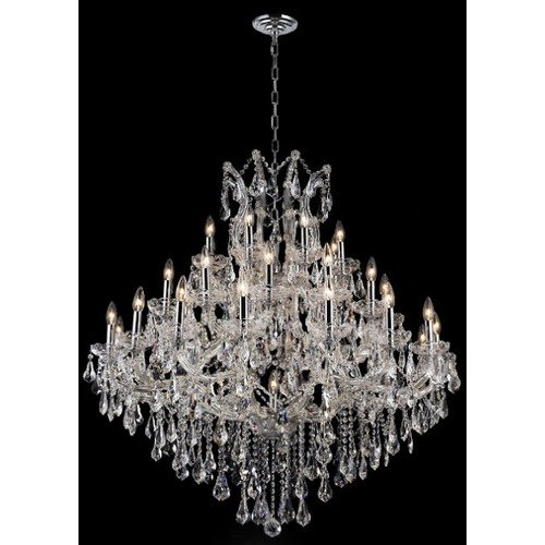 Elegant Lighting 2801G44G-GT/RC Chandeliers Maria theresa