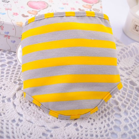 Cute Bee Striped Male Pet Dog Puppy Physiological Pant Belly Wrap Band Diaper Sanitary Underwear Size:S ()