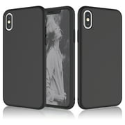 Njjex Case Cover for Apple iPhone XR / iPhone XS Max / iPhone XS / iPhone X / iPhone 10 / iPhone X Edition, Njjex Matte Charming Colorful Slim Soft TPU Bumper Case Cover -Black