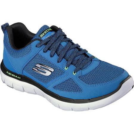b619ad04a77a Skechers - 52180 Blue Skechers Shoe Men s Memory Foam Soft Comfort Sport  Run Train Mesh New - Walmart.com