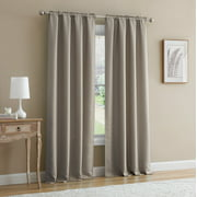 Mainstays Bennett Textured Curtain, Brown 84 inch, Set of (2)