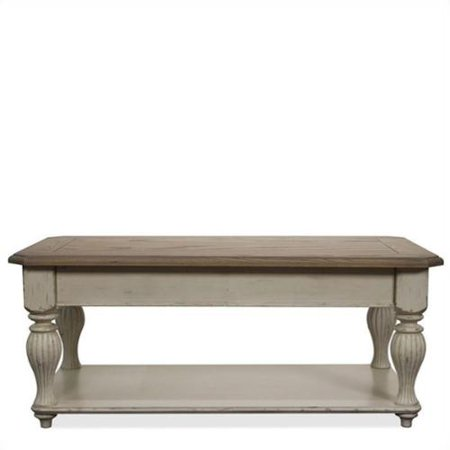 Riverside Coventry Two Tone Lift Top Rectangle Cocktail Table