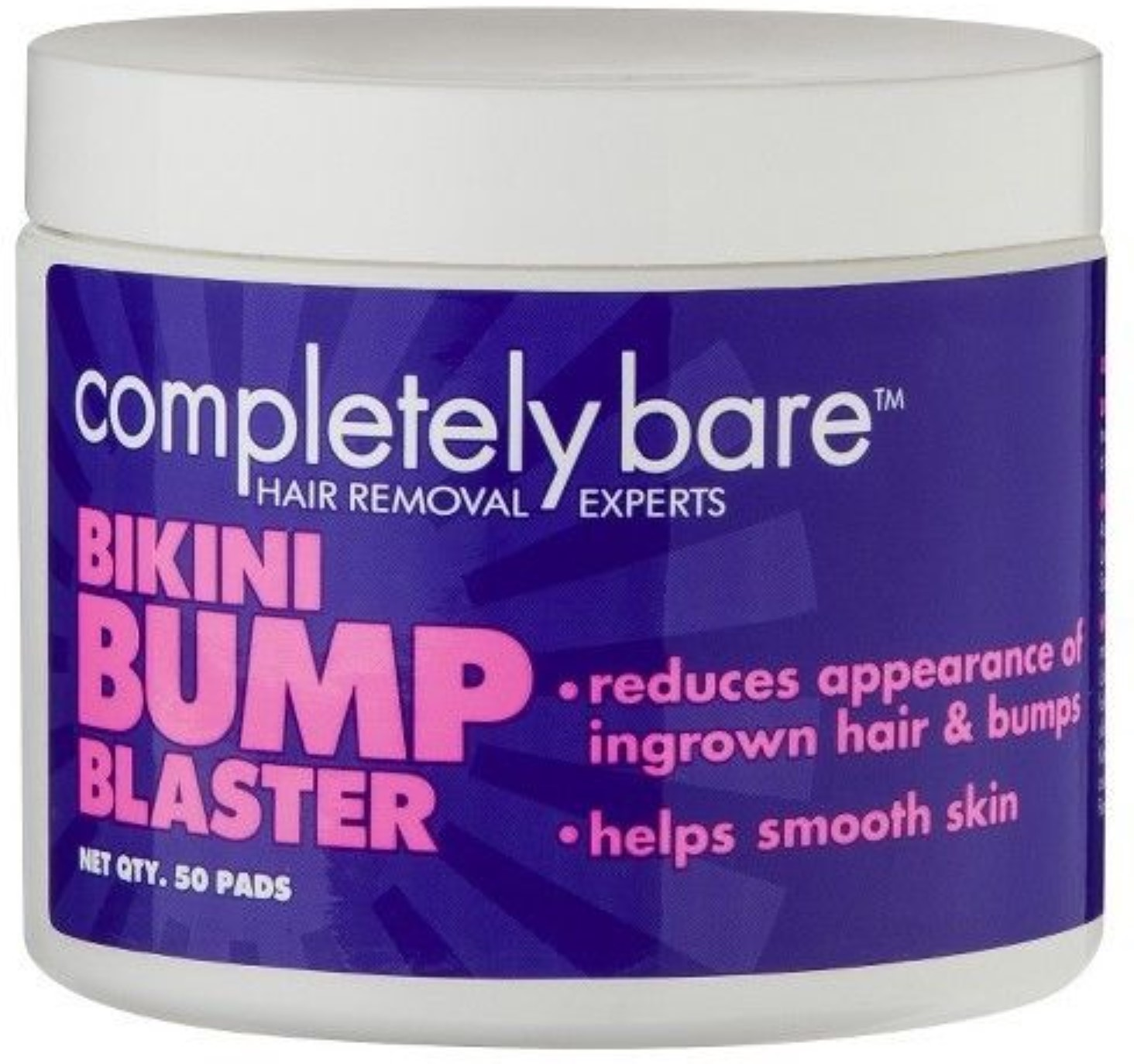 Completely Bare Bikini Bump Blaster Pads For Ingrown Hairs 50 ea (Pack of 2)