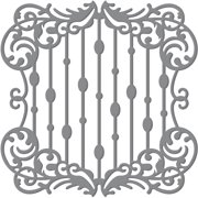 "Magnolia Lane Impression Die-Waterfall Frame, 3.5""X3.5"""