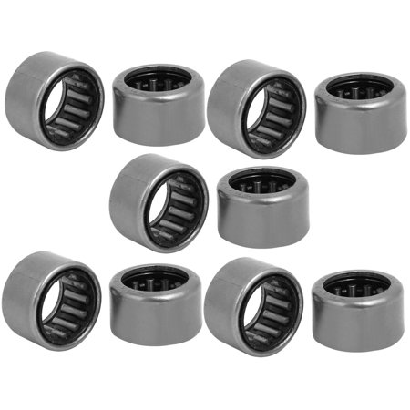 20mmx13.5mmx12mm Drawn Cup Open End Needle Roller Bearing Silver Tone 10pcs Silver Tone Open End