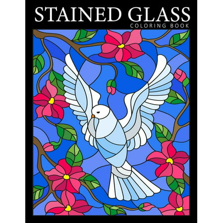 Stained Glass Coloring Book: Beautiful Birds Designs Coloring Pages for Adults - Stress Relief and Relaxation (Paperback) Audubon Birds Stained Glass