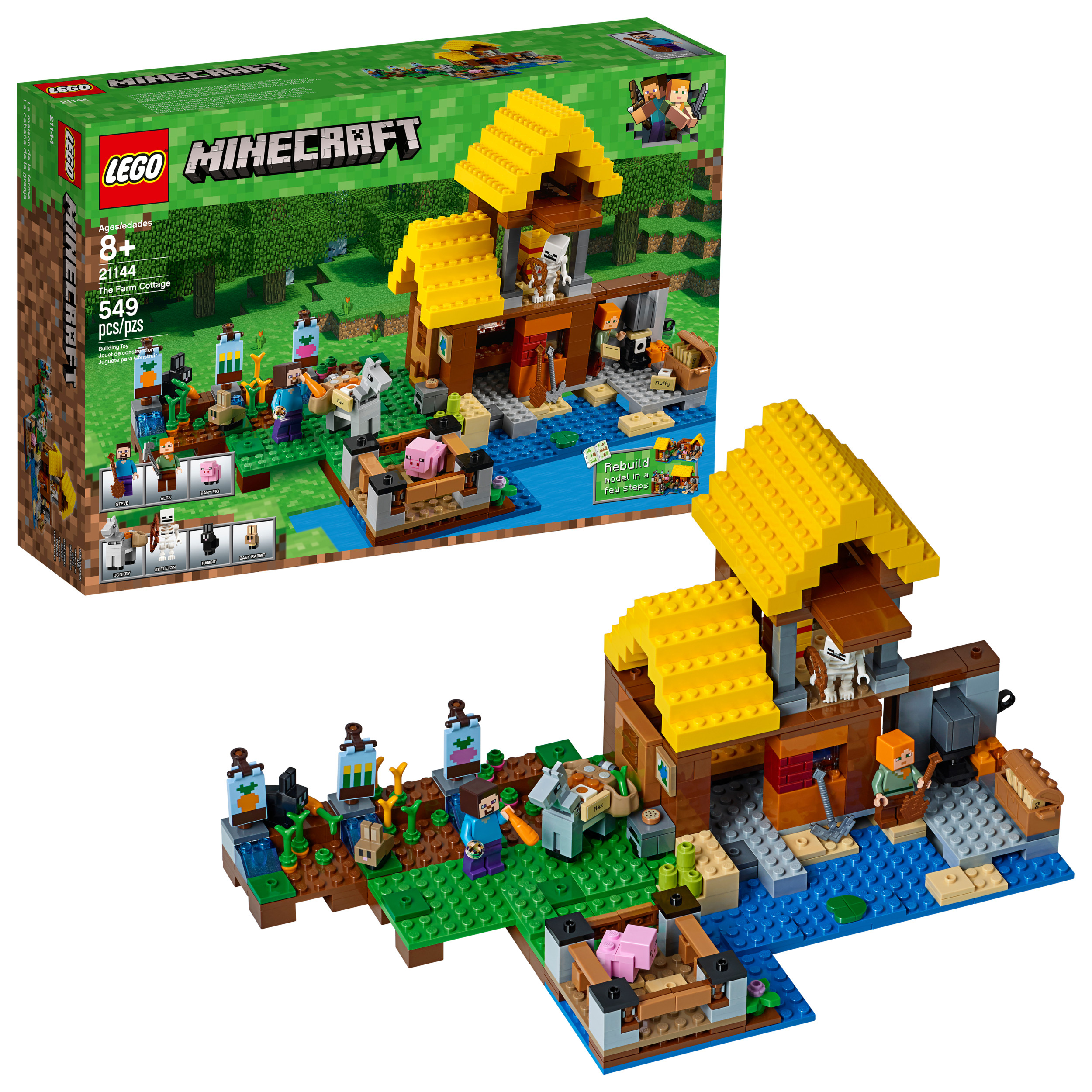 Lego Minecraft The Farm Cottage 21144 by LEGO System Inc