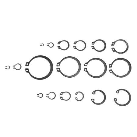 Garosa 300Pcs 2-32mm E-Clip Snap Circlip Kit External Retaining Ring Assortment Set,Circlip Kit,E-Clip Kit - image 2 of 7