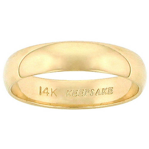 Keepsake 14kt Yellow Gold Wedding Band With Polished Finish, 4mm
