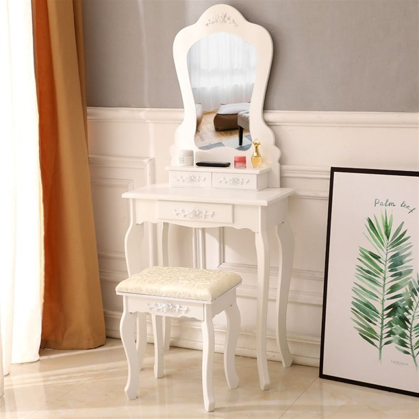 Tophomer Kids Wooden Vanity Table, Makeup Storage In Specially Designed Furniture