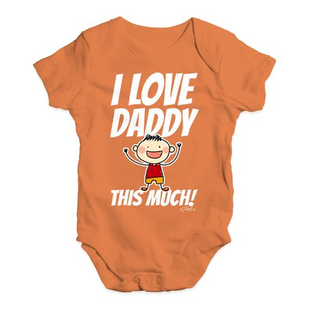 932edb6731b5 Funny Infant Baby Bodysuit I Love Daddy This Much Boy Baby Unisex ...