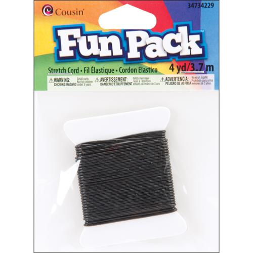 Fun Pack Stretch Cord ? Yards/Pkg-Black