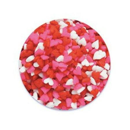 Mini Red, Pink, White Valentine Hearts Edible Sprinkles - 2.6 oz