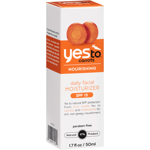 Yes To Carrots Nourishing Daily Facial Moisturizer SPF 15, 1.7 oz