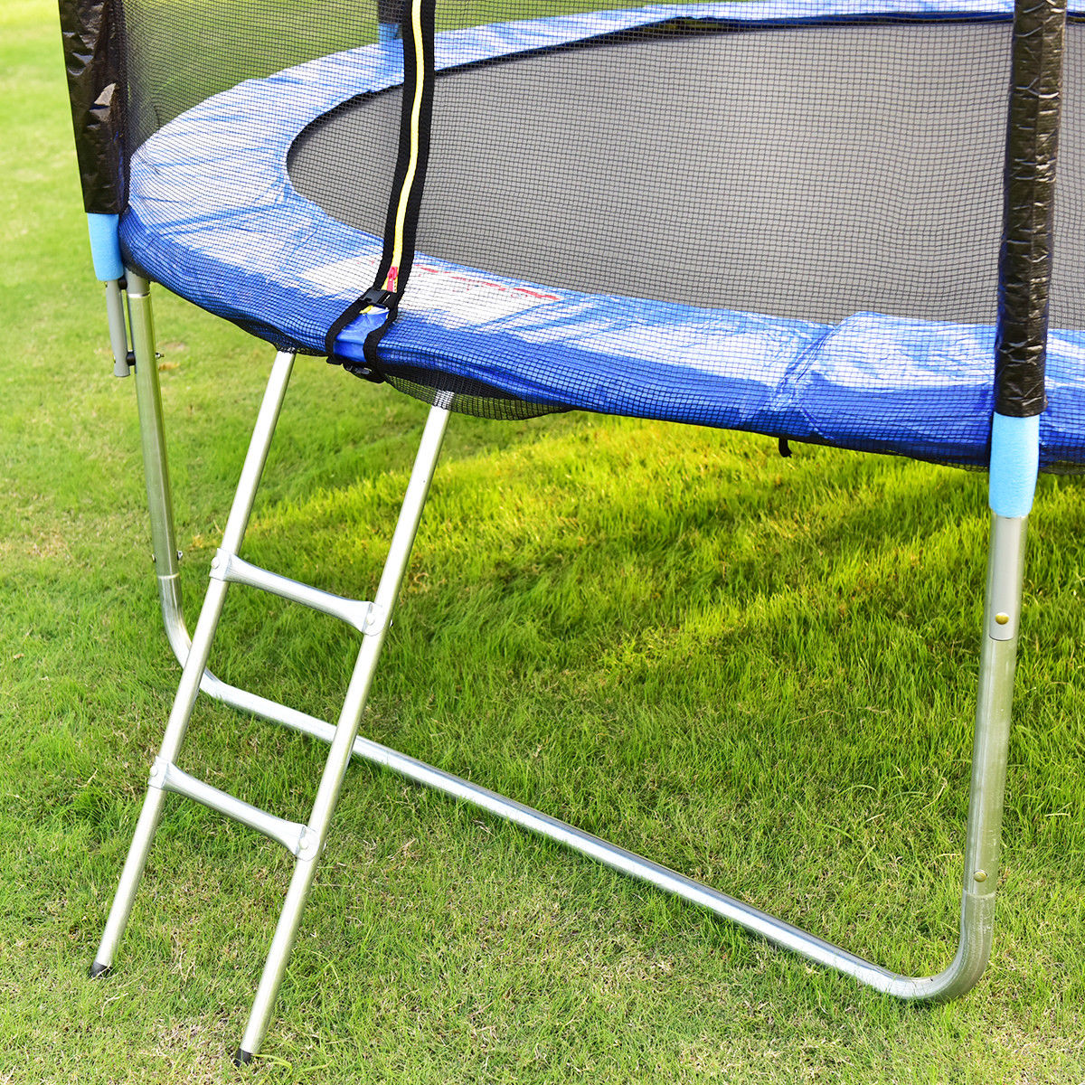 Gymax 10 FT Trampoline Combo Bounce Jump Safety Enclosure Net W/Spring Pad Ladder - image 9 of 10