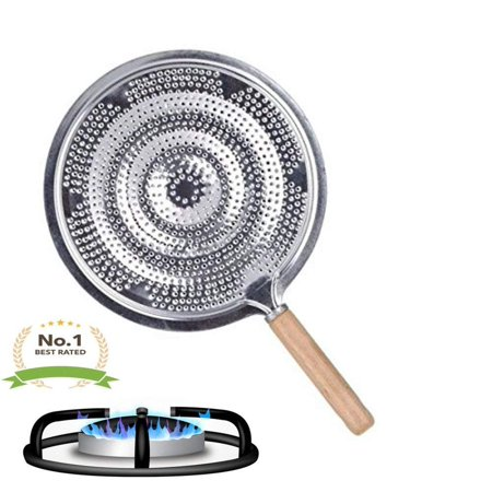 Simmer Ring Heat Diffuser Flame Tamer Quality Round Gas Stove Top Aluminum Wood Handle