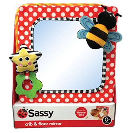 Crib & Floor Mirror Comes with Stimulating Textures & Colors (Baby Crib And Floor Mirror)