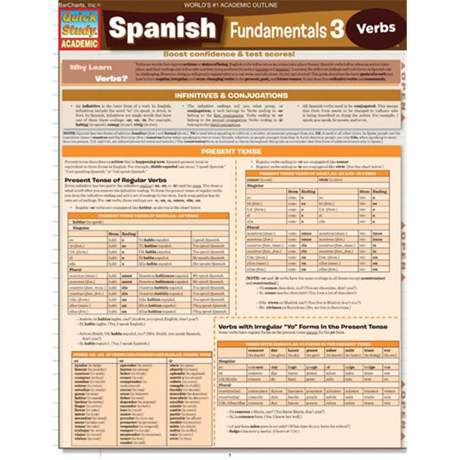 BarCharts- Inc.  9781423214496 Spanish Fundamentals 3