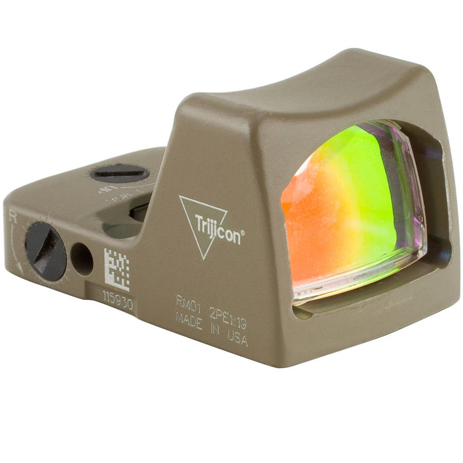 Trijicon Ruggedized Miniature Reflex Sight, Red Dot, Flat Dark Earth, 6.5 MOA