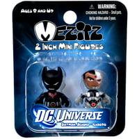 Mini Mez-Itz Series 2 Batman Beyond & Cyborg Vinyl Figure 2-Pack