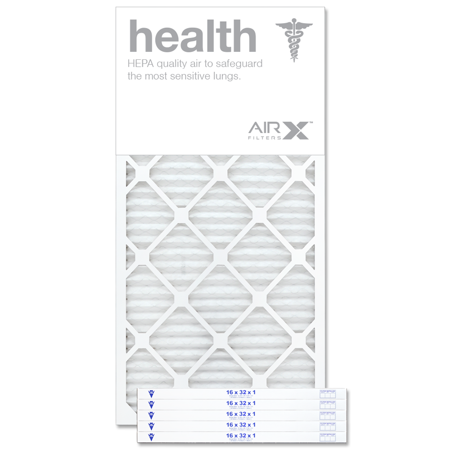 AIRx Filters Health 16x32x1 Air Filter MERV 13 AC Furnace Pleated Air Filter Replacement Box of 6, Made in the USA