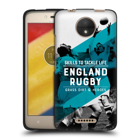 OFFICIAL ENGLAND RUGBY UNION 2017/18 HERITAGE BLACK SOFT GEL CASE FOR MOTOROLA PHONES