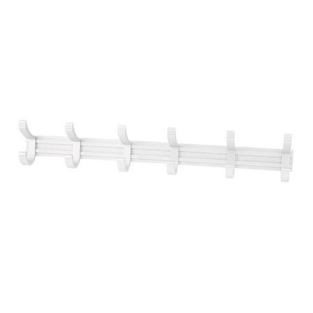 Home Office Aluminum Door Wall Mounted Towel Clothes Hooks Hanger Rack - image 3 de 3