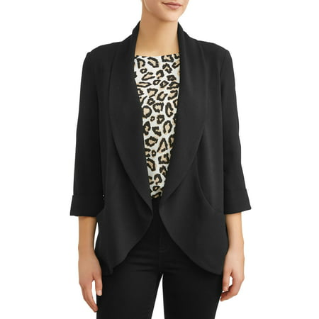 Women's Drape Front Blazer (Price Velvet Blazer)