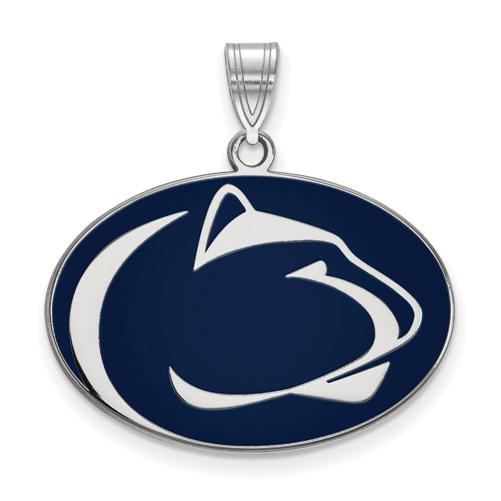 Penn State Large (3/4 Inch) Enamel Pendant (Sterling Silver)