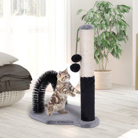 Sisal Cat Scratching Post w/ Arch Self Groommer 2 Balls - image 4 of 7