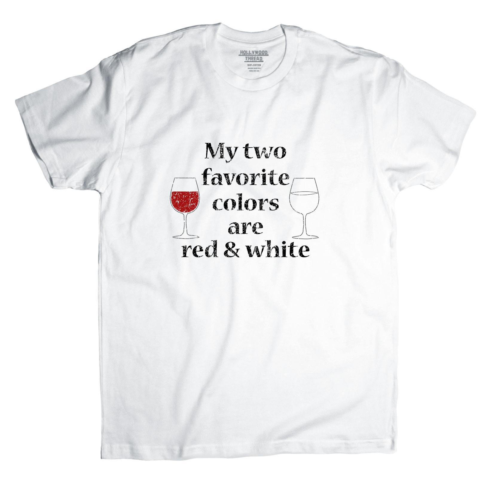 Two Favorite Colors Are Red & White - Wine Drinking Love Men's T-Shirt