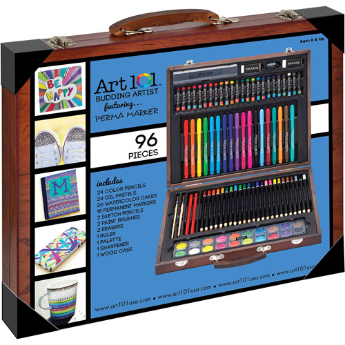Art 101 96-Piece Budding Artist Wood Art Set