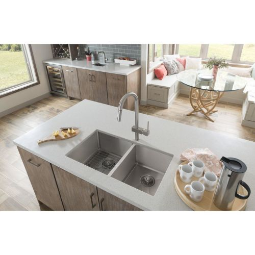 "Elkay ECTSRO33229RBG Crosstown 33"" Double Basin Drop In Stainless Steel Kitchen"