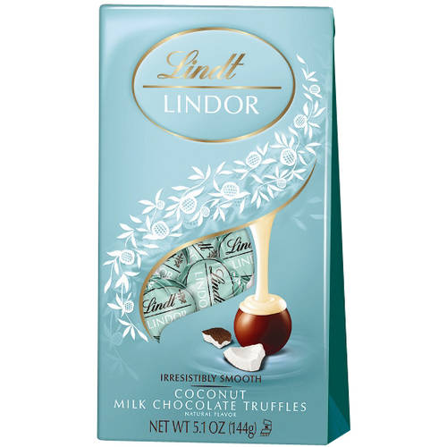 Lindt Lindor Coconut Milk Chocolate Truffles, 5.1 oz