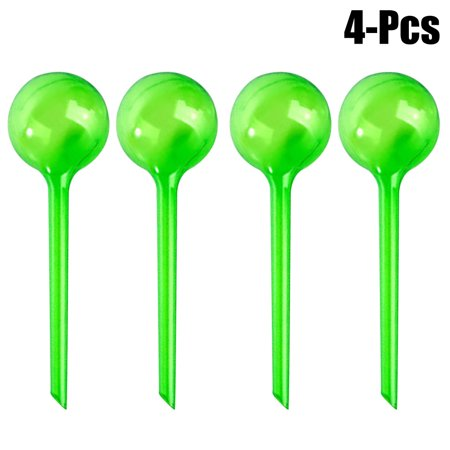 Outgeek Plant Globes Simulated Glass Ball Automatic Outdoor Water Globes Plant Watering Supplies for Home Garden, 4 Pack, S/L (Garden Tool 4 Piece Set)