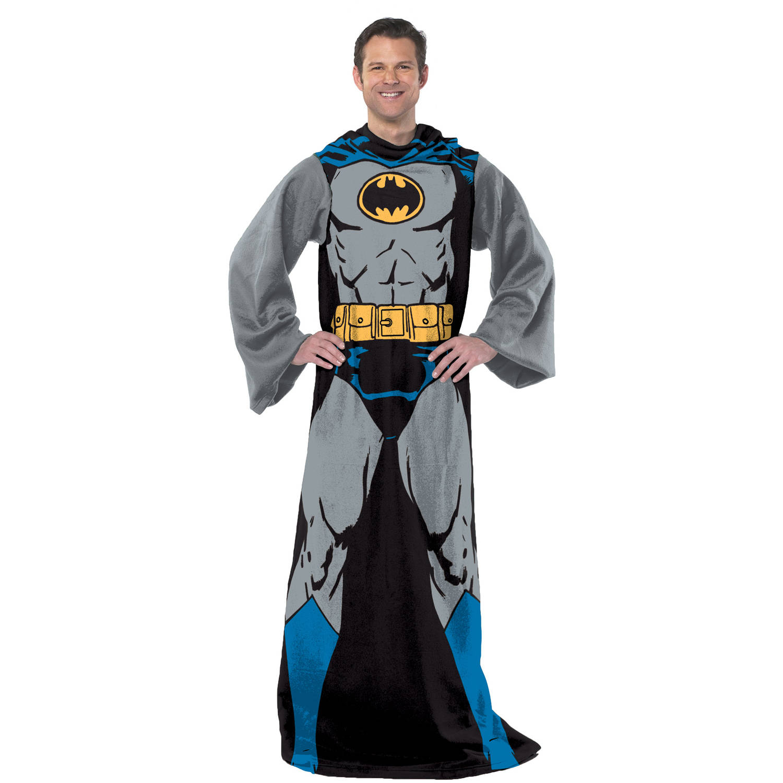 "Warner Bros.' Batman ""Batman in Black"" 48"" x 71"" Adult Fleece Comfy Throw"