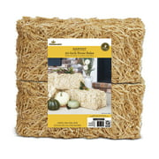 Way to Celebrate Harvest Decorative 20 Inch Straw Bale, 2 Pack