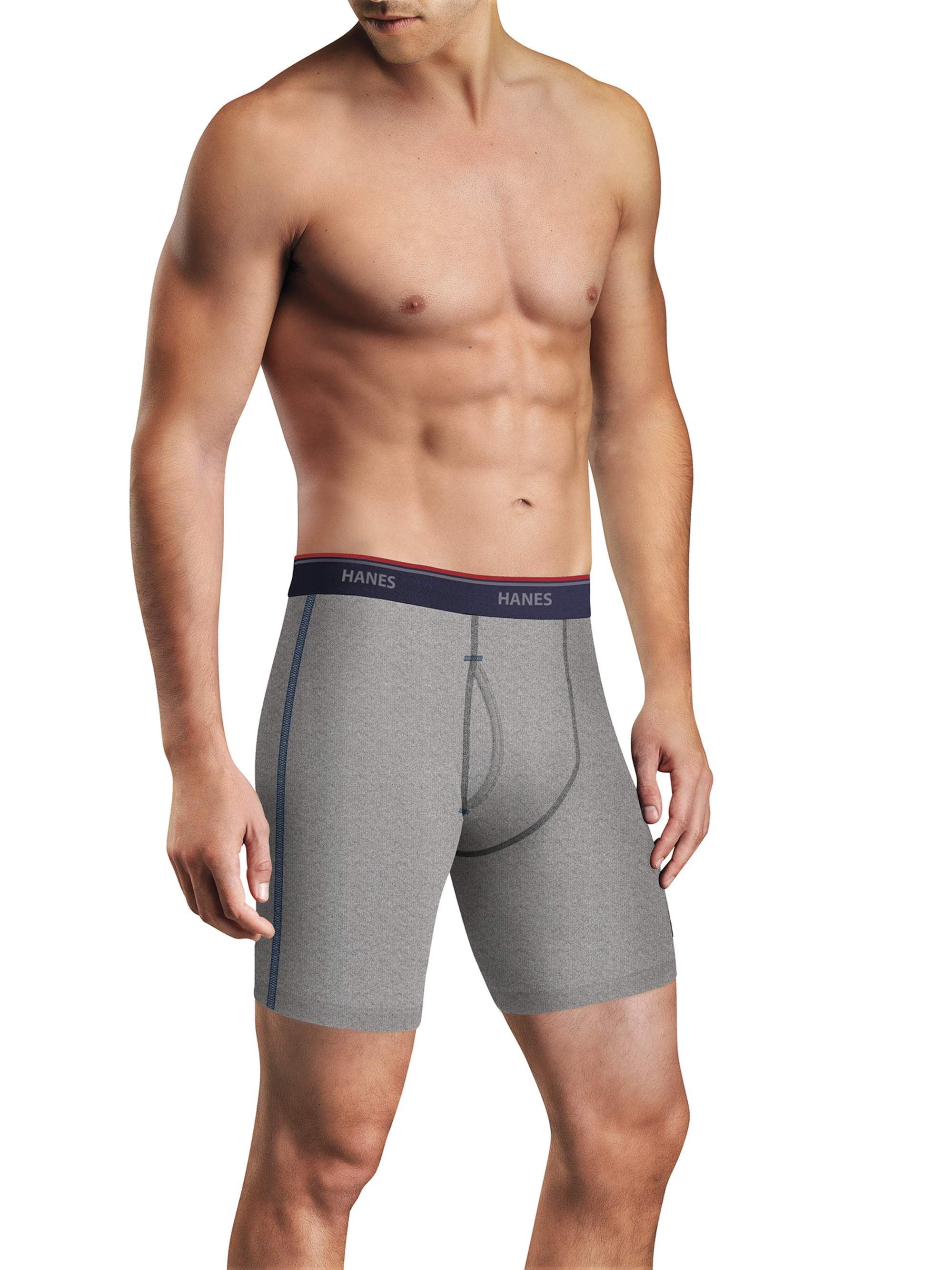 Men's FreshIQ Comfort Flex Waistband Long Leg Boxer Brief 5-Pack