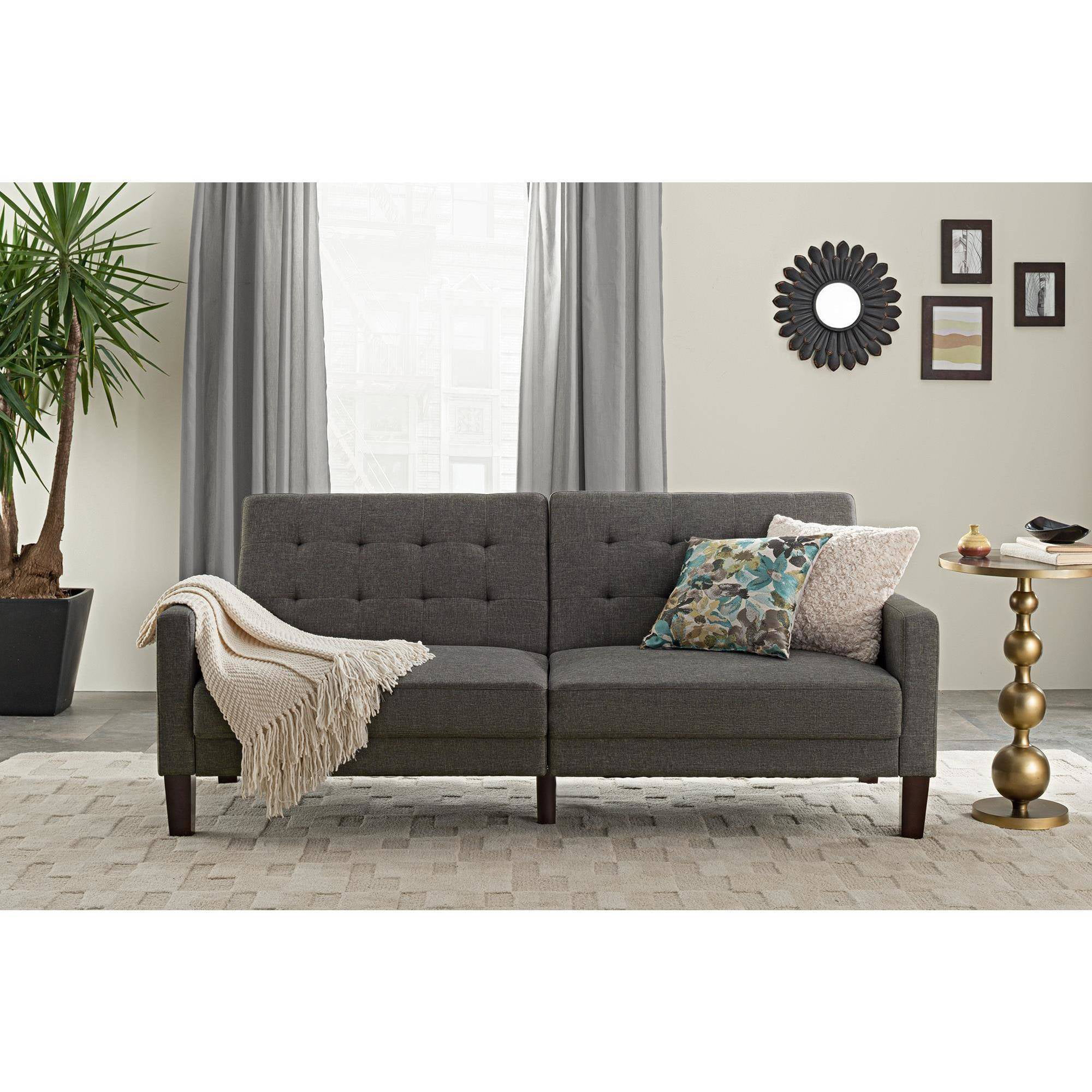 better homes and gardens porter futon multiple colors walmartcom - Futon Sofa Beds