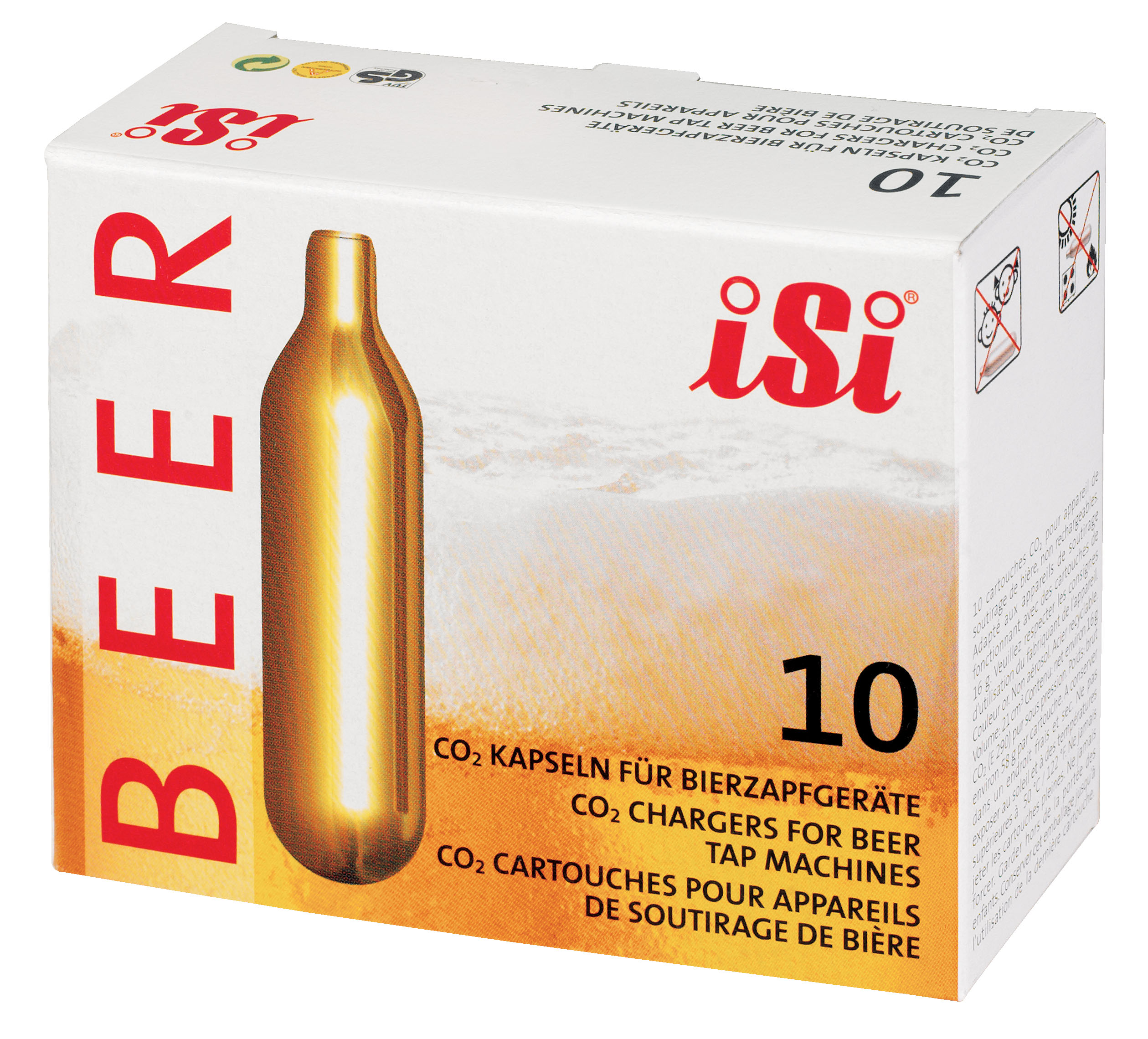 iSi 16 Gram CO2 Beer Tap Appliance Charger Set 10 Piece