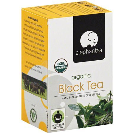 ELEPHANTEA Thé noir bio, 1,41 oz, (Pack de 6)