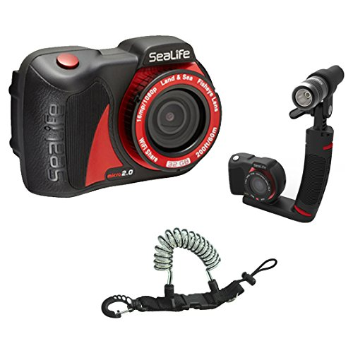 SeaLife Micro 2.0 16mp WiFi Underwater Camera 32GB w  Sea Dragon 600 Micro Ki... by SeaLife